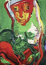 Bengt Lindström (1925-2008) Sans titre Gouache sur papier contrecollé sur isorel Signée en bas vers la droite 104,5 x 74,5 cm
