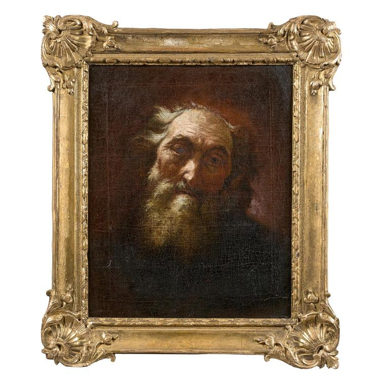 18th century Venetian school, circle of G. B. Piazzetta, Head of an old man, canvas