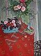 Emile Sabouraud (1900 - 1996) Bouquet à la nappe
