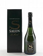 """1 bouteille CHAMPAGNE """"S"""", Salon 1990 (coffret)"""