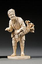 An ivory okimono, signed Muneyisa tô. Japan, Meiji period. H. 15 cm (5 15/16 in.)