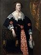 Attribué à Wybrand de GEEST (1592 – 1661) Portrait présumé d'Anne Françoise Cordouan à l'âge de 15 ans en 1635  Toile  111,5 x...