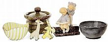 Ensemble de cinq céramiques LINDBERG GUSTAVSBERG KELETY POUCHOL PIGAGLIO