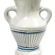 Roger CAPRON (1922-2006) Vase balustre en faïence