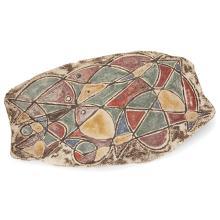 GUSTAVE REYNAUD (1915-1972) - ATELIER DU MÛRIER Plaque de forme libre en terre chamottée