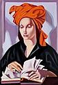 ƒ Tamara de Lempicka (1898-1980) La Sagesse, vers 1974 Huile sur toile Oil on canvas 54,7 x 38 cm - 21 1/2 x 15 in.