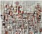 Maria Helena Vieira da Silva (1908-1992) Au couchant rue Jonquoy, 1986 Huile sur toile Signée et datée 86 en bas à droite Oil on can...