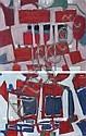 Paul Charlot (1906-1985)  Sans titre, circa 1970 Deux huiles sur toile L'une signée en bas à gauche, l'autre en haut à droite Chacun...