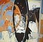 Tony Soulié (Né en 1955)  Sans titre Acrylique sur toile Signée au dos 193 x 193 cm - 76 x 76 in