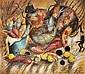 ƒ Cristina Rubalcava (Née en 1943) Nature morte aux singes et poissons, 1996 Huile sur toile Signée, située Paris et datée 96 en bas...