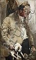 Paul Rebeyrolle (1926-2005)  Portrait, 1950 Huile sur toile Signée et datée 50 en haut à gauche 161 x 96 cm - 63 3/8 x 37 3/4 in