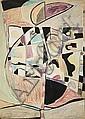 NEJAD DEVRIM (1923-1995)  Abstraction, circa 1950 Technique mixte sur papier Signée en bas vers la droite 105,5 x 75 cm - 41 1/2 x 2...