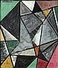 Enzo Brunori (1924-1993)  Interno, 1951 Huile sur toile Signée et datée 8-51 en haut à gauche 35 x 30 cm - 13 3/4 x 11 3/4 in