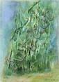 Enzo Brunori (1924-1993)  Nuovo verde, 1983 Pastel sur papier Signé et daté 83 en bas à droite 33 x 24 cm - 13 x 9 3/8 in