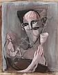 Gérard Garouste (né en 1946)  Sans titre, 1993 Gouache sur papier Signée en bas à droite 65 x 50 cm - 25 5/8 x 19 5/8 in