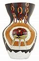 Jean LURÇAT (1892-1966) Très important vase balustre en faïence émaillée polychrome, à décor, d'une part, d'un soleil maintenu par d...