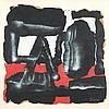 Ladislas Pierre Kijno (1921-2012) Point non-retour, 1968 Acrylique et glycérospray sur papier froissé  Signé en bas à droite Contresigné, daté et titré au dos du montage 70 x 74 cm