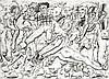 Soly Cissé (né en 1969) Sans titre, 2008 Fusain sur papier Signé et daté en bas à droite 38,5 x 53 cm