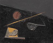 Jean Piaubert (1900-2002) Pays noir Huile sur toile Signée en bas à droite Contresignée et titrée au dos  22 x 27 cm