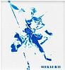Blek le Rat (Né en 1951) Sans titre Peinture aérosol au pochoir sur carton Signée en bas à droite  23 x 23 cm