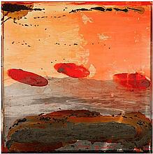 Tony Soulié (Né en 1955) Désert, 2000 Technique mixte sur photographie contrecollée sur panneau Signée et datée en bas à droite Contresignée, datée et titrée au dos  125 x 125 cm