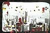 Tony Soulié (Né en 1955) NY Technique mixte sur photographie contrecollée sur panneau Titrée et signée en bas  60 x 90 cm