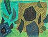 Henri Bernard Goetz (1909-1989) Sans titre Pastel gras sur papier marouflé sur toile Signé en bas à droite  50 x 65 cm