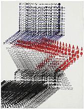 Constantin Xenakis (né en 1931) Sans titre Encre et aquarelle sur papier Signée vers le bas à droite  62 x 47 cm