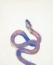 Nicola Bolla (né en 1963) Sans titre, 1995 Pigments sur papier Signé et daté 95 en bas à gauche 38 x 31 cm à vue