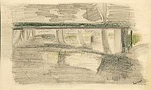 Pierre Tal-Coat (1905-1985) Sans titre Pastel et crayon sur papier Signé en bas à droite 17,5 x 28,5 cm à vue