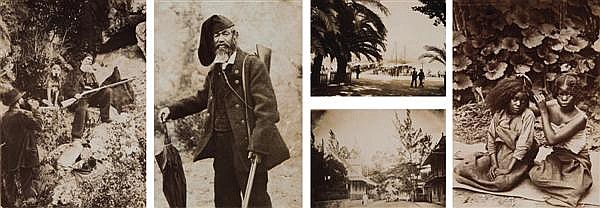 Auteur non identifié Corse, Madagascar, vers 1900 Album de 50 épreuves sur papier citrate dont 11 épreuves sur la Corse (Ajaccio, le...