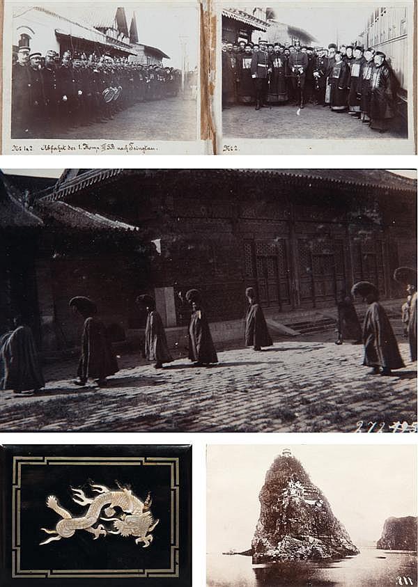 Auteur non identifié Chine, 1903-1909 Ensemble de deux albums de souvenirs du service militaire de M