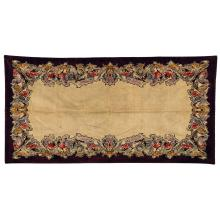 MONTA (Éditeur) A rectangular mechanical weaving multicolored velvet rug. Height. 114 1/8 in. - Width. 58 5/8 in.