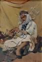 DAVID DELLEPIANE (1866-1925) LE JOUEUR DE FLÛTE The Flute Player Huile sur toile, signée et datée 1897 en bas à droite. DIM. 41,5 X ...