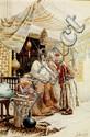 ROBERTO RAIMONDI (1877-1961) LE MARCHAND D'ARMES The Arms Merchant Aquarelle sur papier, signée en bas à droite. DIM. À VUE 54 X 37 ...