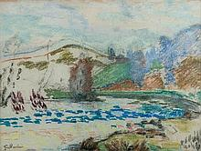 Armand Guillaumin (1841-1927)  Pastel on paper Signed lower left Certified the back: