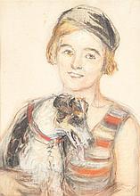 Roger Bissière (1886-1964) Portrait de femme Aquarelle, crayon et lavis d'encre sur papier Signée en bas à droite 39 x 30cm