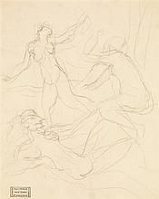 ANDRÉ DERAIN (1880-1954) Danseuses nues Crayon sur papier Porte le cachet de vente de Me Loiseau en bas à gauche 30 x 24cm