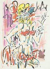 GEN PAUL (Eugène Paul dit) (1895-1975) La danseuse Aquarelle et pastel sur papier Signée en haut à gauche 43 x 31cm