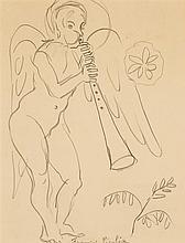FRANCIS PICABIA (1879-1953) Sans titre, vers 1945/48 Crayon sur papier Signé en bas au centre 27 x 22cm