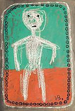 Victor Brauner (1903-1966) Personnage, 1948 Gouache sur papier Signée du monogramme et datée en bas à droite 76 x 50cm