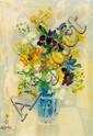 LE PHO (1907-2001)  Bouquet de fleurs, vers 1950 Huile sur toile Signée en bas à gauche 46 x 34 cm - 18 1/8 x 13 3/8 in