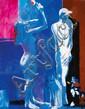 Paul Guiramand (1926-2008)  Pudique Huile sur toile Signée en bas à droite 146 x 114 cm - 57 1/ 16 x 44 7/8 in