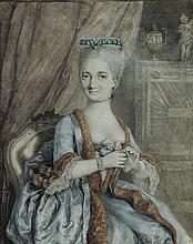 Attribué à Peter Adolph HALL  (Boras 1739-Liège 1793) Portrait de Louise Jeanne Caulet d'Hauteville épouse de M