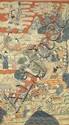 ƒGRAND PANNEAU en soie tissée (kesi) et rehaussée de polychromie, représentant les huit immortels accompagnés d'autres divinités et ...
