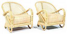 Arne JACOBSEN (1902-1971) Paire de larges fauteuils de jardin