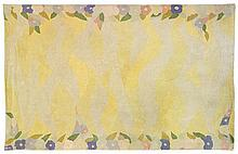 Ernest BOICEAU (1881-1950) A rectangular carpet with a stylized polychrome vegetal decoration. Signed. Dim. 109 1/2 in. x 69 3/4 in.
