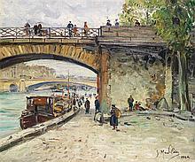 Gustave Madelain (1867-1944) Quai de Seine, 1929 Oil on canvas