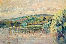 Louis Alphonse Abel Lauvray (1870-1950), Reflets de la Seine Oil on canvas