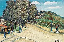 Alphonse Léon Quizet (1885-1955) Paysage Oil on carboard